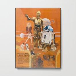 Star R2-D2 C-3PO Wars Metal Print
