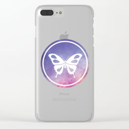 Butterfly Illustration Clear iPhone Case