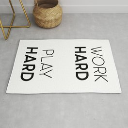 Work Hard / Play Hard Quote Rug