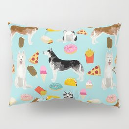 Husky siberian huskies junk food cute dog art sweet treat dogs pet portrait pattern Pillow Sham