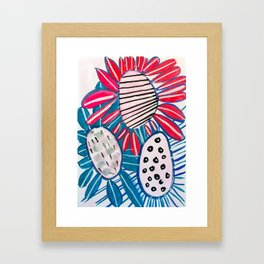 Bold Painted Floral Framed Art Print