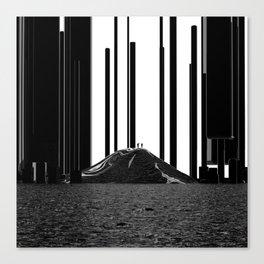 Black Pillars Canvas Print