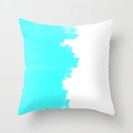 Shiny Turquoise balance Throw Pillow
