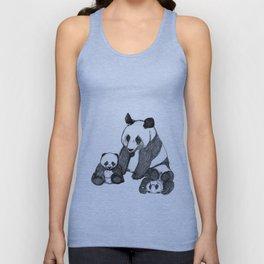 Famille de pandas Unisex Tank Top