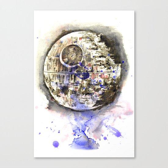 Star War Art Painting The Death Star Canvas Print