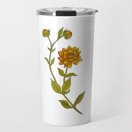 Dahlias Watercolor Travel Mug