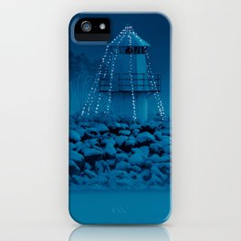 Pier and lighthouse iPhone Case