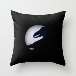 Darkness More Than Night Throw Pillow