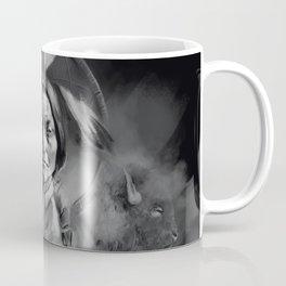 Black and white portrait-Sitting bull Coffee Mug