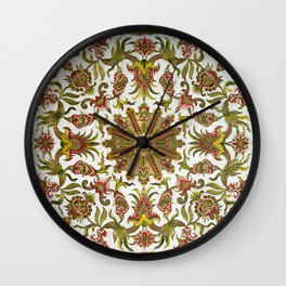 18th Century Embroidery Wall Clock