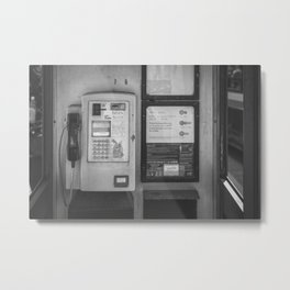 Open Air Phone Booth Metal Print