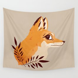 Fox Familiar Wall Tapestry