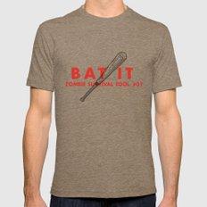 Bat it - Zombie Survival Tools Mens Fitted Tee Tri-Coffee MEDIUM
