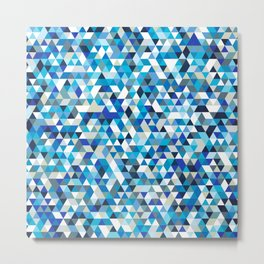 Icy triangles Metal Print