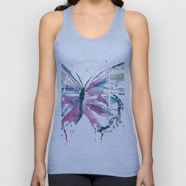 Vibrant Butterfly Unisex Tank Top