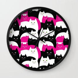 Fat Cats Wall Clock