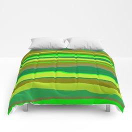 Green Multi Brush Strokes Comforters