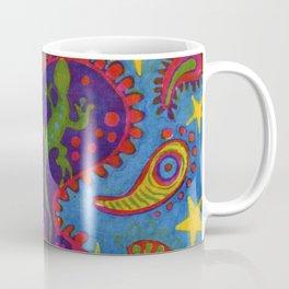 Lizard Paisley Batik Coffee Mug