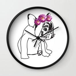 French Bulldog Puppy Wall Clock