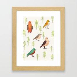 Birds & Forest Framed Art Print