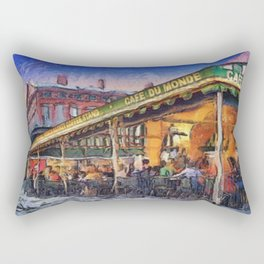 NOLA Cafe Du Monde Rectangular Pillow