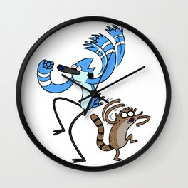 Mordecai & Rigby - Regular Show Wall Clock