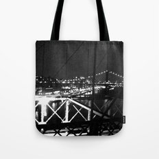 WHITEOUT : Standing 'Top the Bright Lit City Tote Bag
