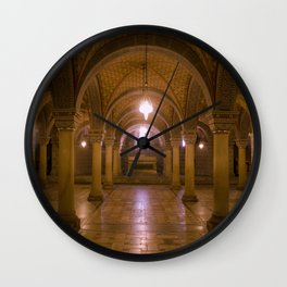 Cathedral Crypt (slight pink tone) Wall Clock