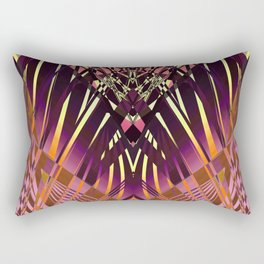 PRETTY VIOLET CORAL YELLOW SWEEPING LINES Rectangular Pillow