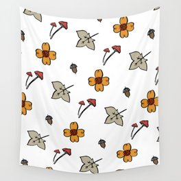 Cute autumn patterns with nature Wall Tapestry