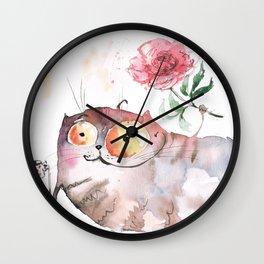 Saturday caturday Wall Clock