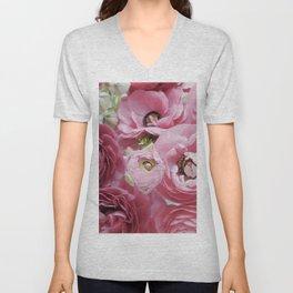 Bloom Sweetly - Rose Pink Unisex V-Neck