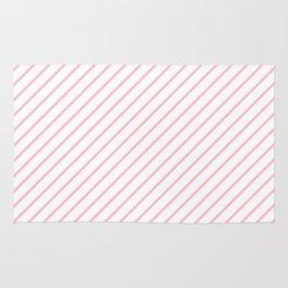 Diagonal Lines (Pink/White) Rug