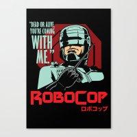 robocop Canvas Prints featuring Robocop  by Buby87