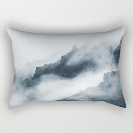 Foggy Mountains Rectangular Pillow