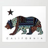 california Art Prints featuring California by TAM ♡
