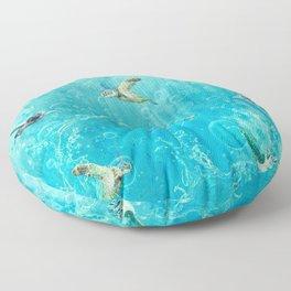 Swimming Turtles Floor Pillow