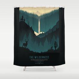 The Wilderness Shower Curtain