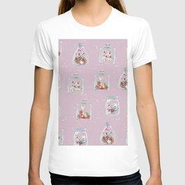 Christmas Pattern Pink T-shirt