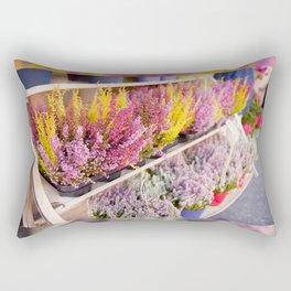 shelves with blooming heather Rectangular Pillow
