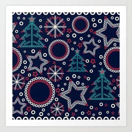 Christmas holidays Art Print