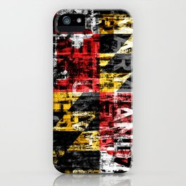 Maryland Flag Print iPhone Case