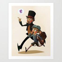 The Professor and Luke Art Print