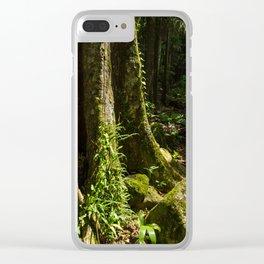 Sunlit Rainforest Clear iPhone Case