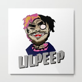 Lil Peep Crewneck Metal Print