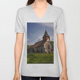 Selmeston Church Unisex V-Neck