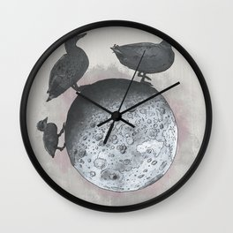 the duck side of the moon Wall Clock