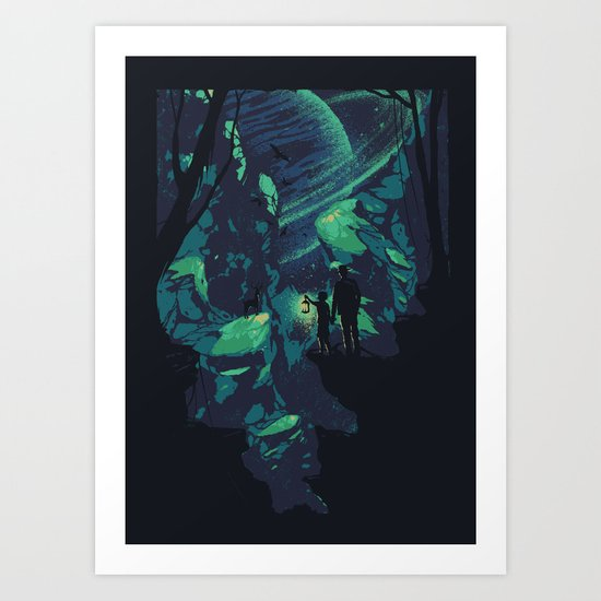 Cosmic Canyon Art Print