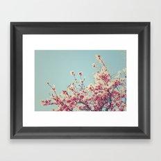 Retro Blossoms Framed Art Print