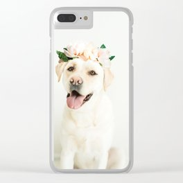 Flower Pup Clear iPhone Case